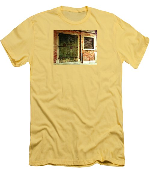 Men's T-Shirt (Athletic Fit) featuring the photograph Venetian Graffiti by Anne Kotan