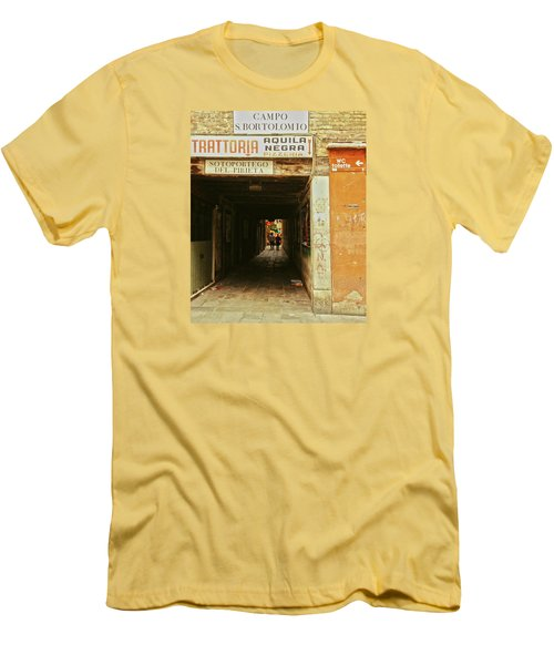Men's T-Shirt (Athletic Fit) featuring the photograph Venetian Passage by Anne Kotan