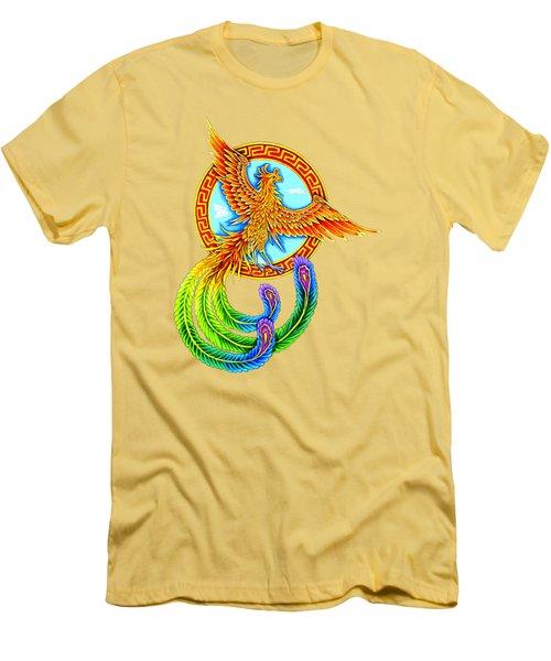 Vermilion Bird Men's T-Shirt (Athletic Fit)
