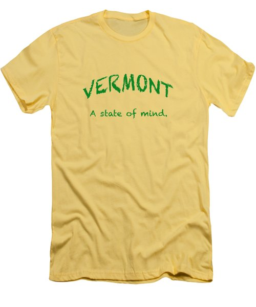 Vermont, A State Of Mind Men's T-Shirt (Athletic Fit)