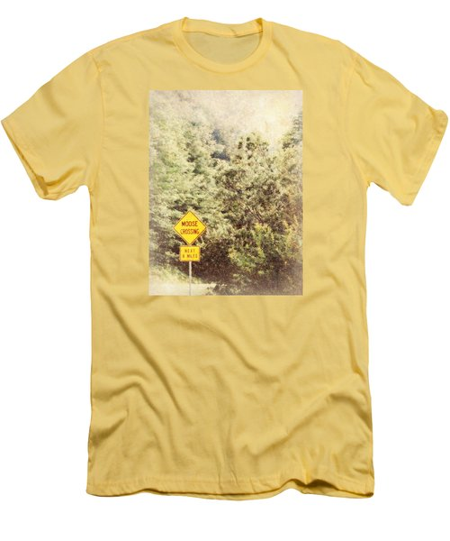 Men's T-Shirt (Slim Fit) featuring the photograph Vermont In Winter by Robin Regan
