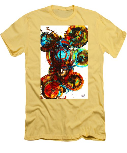 Vibrant Sphere Series 995.042312vsx2 Men's T-Shirt (Slim Fit) by Kris Haas