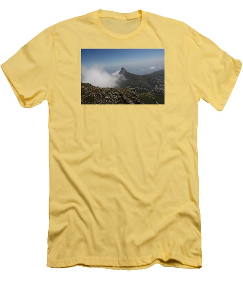 View From Table Mountain Men's T-Shirt (Slim Fit) by Bev Conover