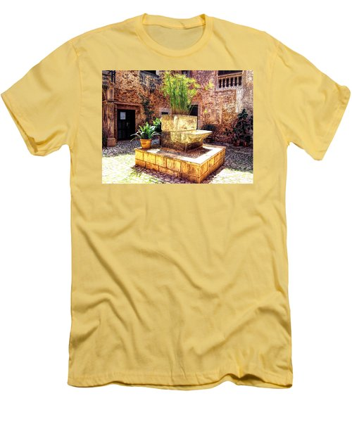 Men's T-Shirt (Slim Fit) featuring the photograph Village Well In Santanyi by Andreas Thust