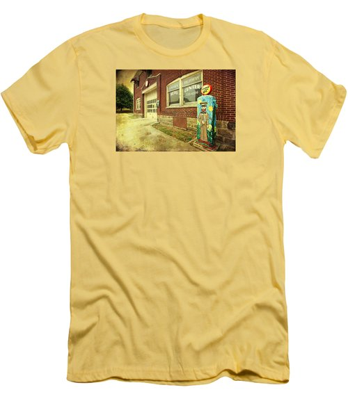 Men's T-Shirt (Slim Fit) featuring the photograph Vincent Van Gas by Trina Ansel