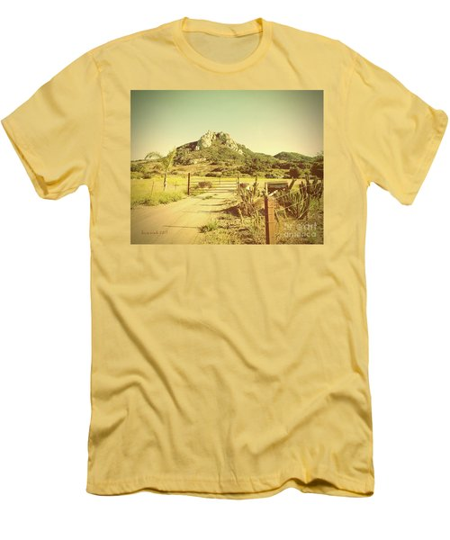 Vintage San Luis Obispo California Seven Sisters  Men's T-Shirt (Athletic Fit)