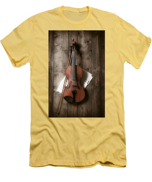 Violin Men's T-Shirt (Slim Fit) by Garry Gay