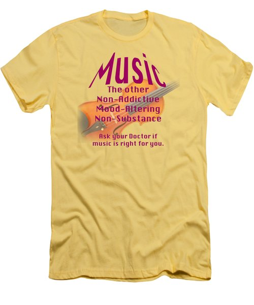 Violin Or Viola Music Is Right For You 5499.02 Men's T-Shirt (Slim Fit) by M K  Miller