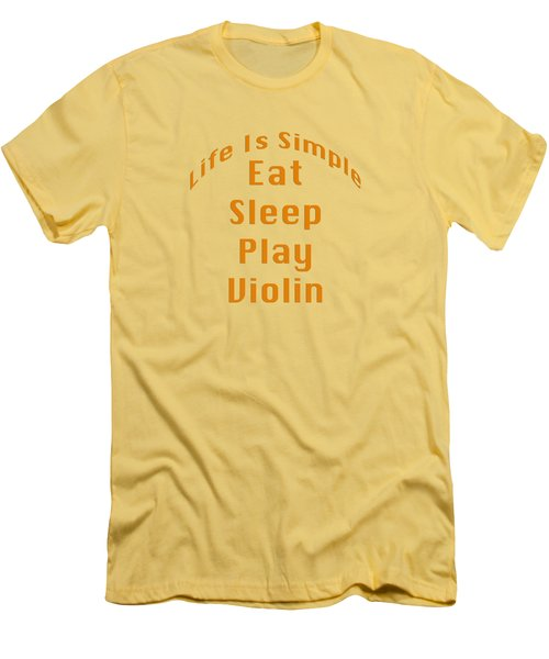 Violin Viola Eat Sleep Play Violin 5522.02 Men's T-Shirt (Athletic Fit)