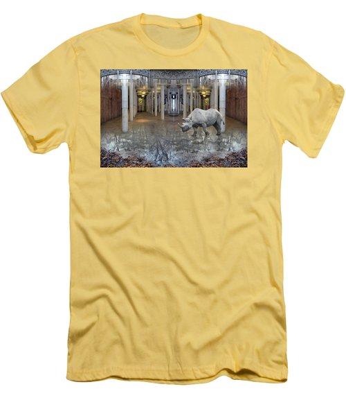 Visiting Men's T-Shirt (Slim Fit) by Joan Ladendorf