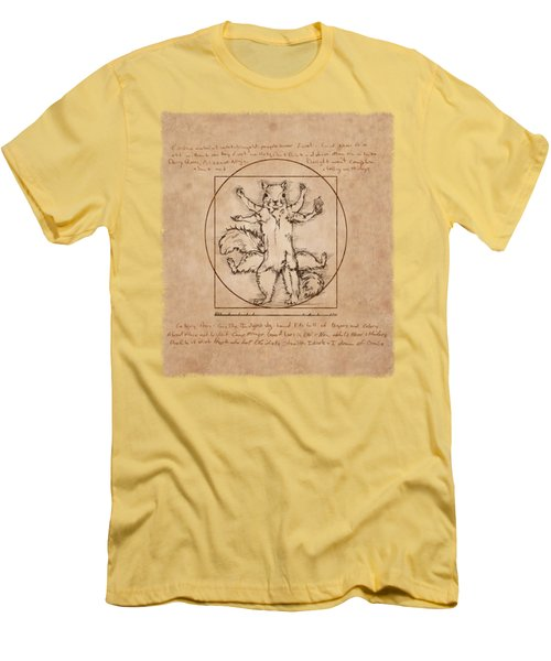Vitruvian Squirrel Men's T-Shirt (Slim Fit) by Katherine Nutt