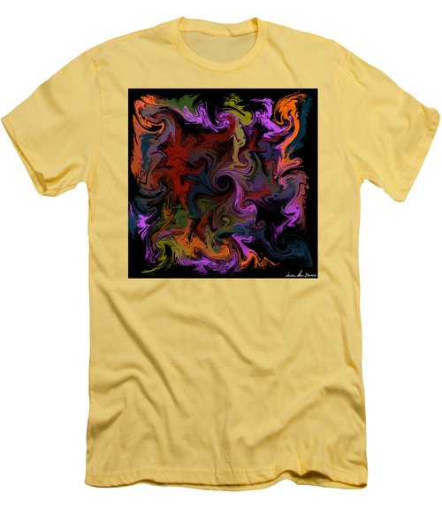 Men's T-Shirt (Athletic Fit) featuring the digital art Vortex One by Iowan Stone-Flowers