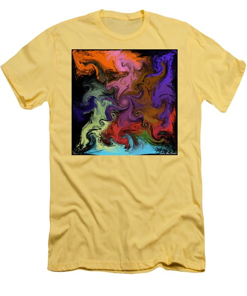 Men's T-Shirt (Athletic Fit) featuring the digital art Vortex Two by Iowan Stone-Flowers