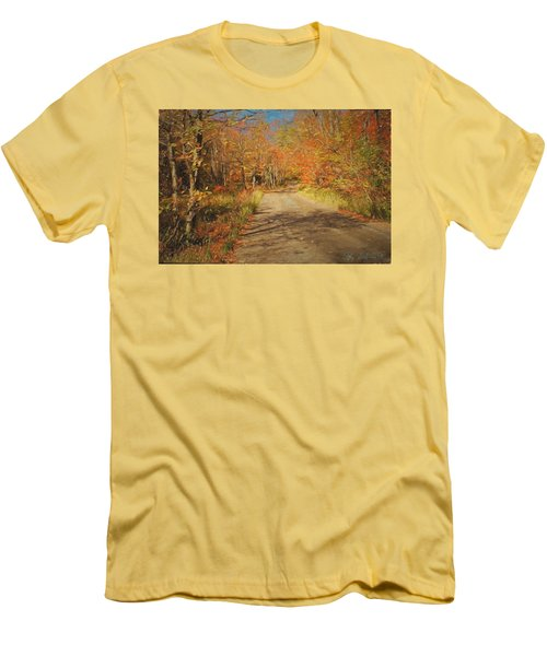 Vt.rte. Fifty Eight Hazen  Notch Men's T-Shirt (Slim Fit) by John Selmer Sr