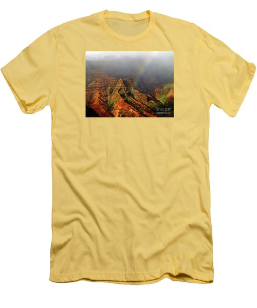 Waimea Canyon I Men's T-Shirt (Slim Fit) by Patricia Griffin Brett