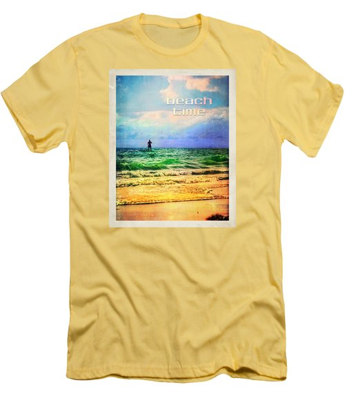 Men's T-Shirt (Slim Fit) featuring the photograph Beach Time by Tammy Wetzel