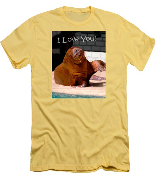 Walrus Loves You Men's T-Shirt (Athletic Fit)
