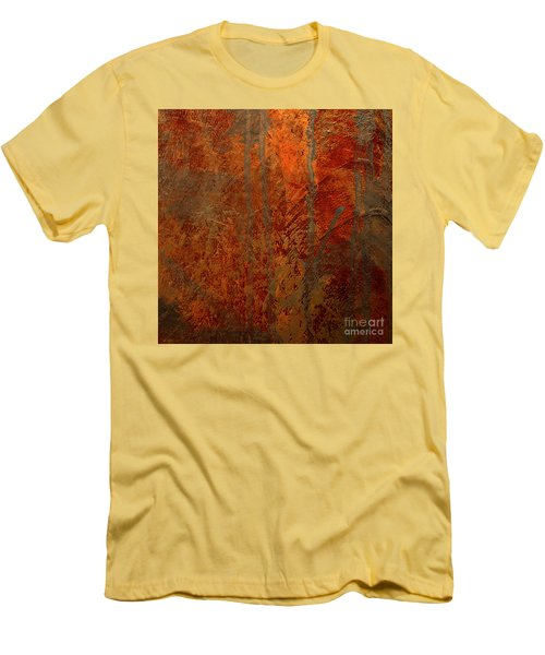 Men's T-Shirt (Slim Fit) featuring the mixed media Wander by Michael Rock