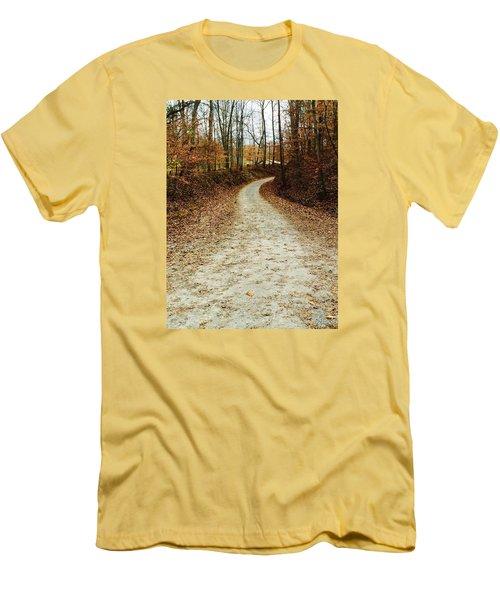 Wandering Road Men's T-Shirt (Slim Fit) by Russell Keating