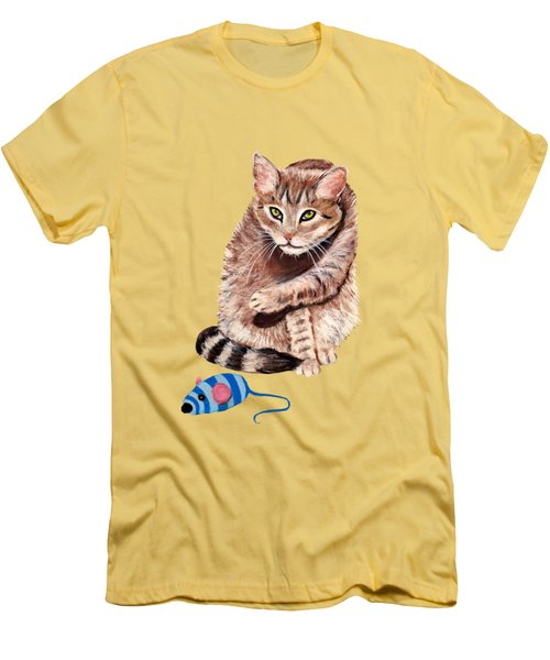 Want To Play Men's T-Shirt (Slim Fit)
