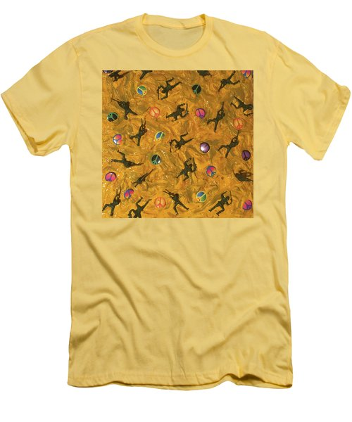 Men's T-Shirt (Slim Fit) featuring the painting War And Peace by Thomas Blood