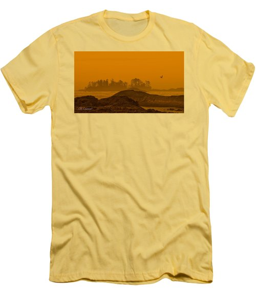 Warm Glow Men's T-Shirt (Slim Fit) by CR  Courson