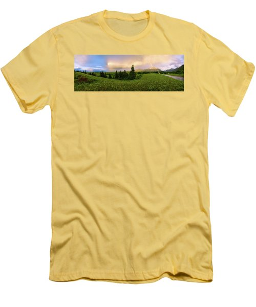 Men's T-Shirt (Slim Fit) featuring the photograph Warm The Soul Panorama by Chad Dutson