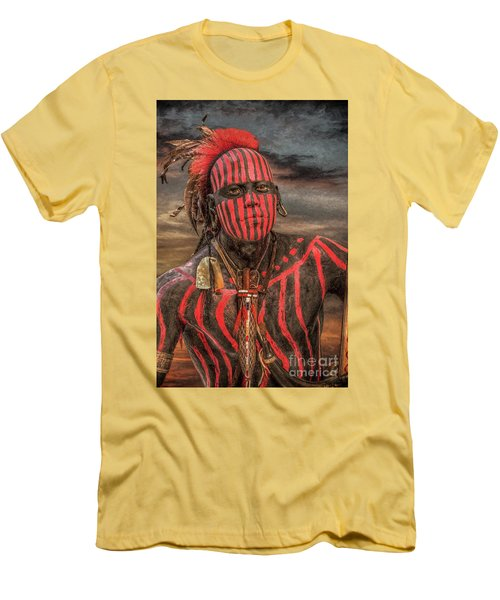 Warpath Shawnee Indian Men's T-Shirt (Slim Fit) by Randy Steele