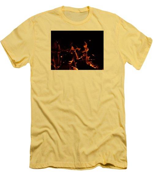 Warrior Rabbit Men's T-Shirt (Slim Fit) by Janet Rockburn