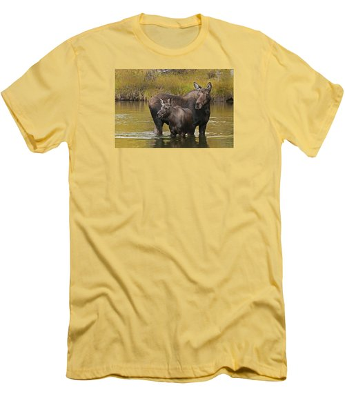 Watchful Moose Men's T-Shirt (Slim Fit) by Gary Lengyel