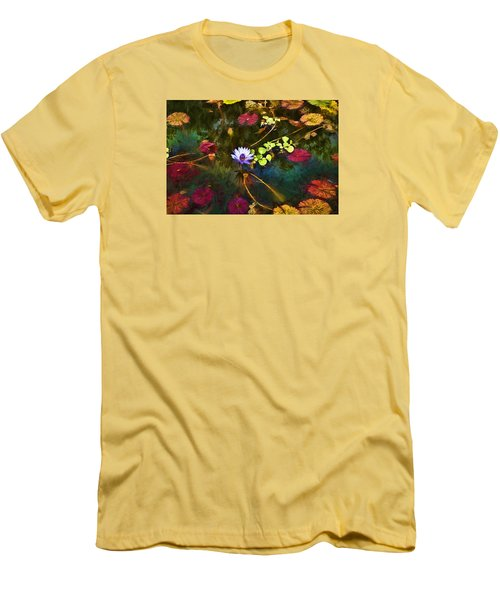 Water Lily Dreams Men's T-Shirt (Slim Fit) by Terry Cork