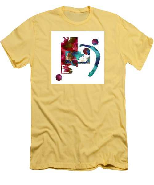 Watercolor Abstract 2 Men's T-Shirt (Slim Fit) by Kandy Hurley