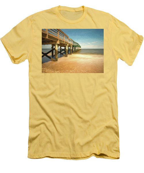 Men's T-Shirt (Athletic Fit) featuring the photograph Waterfront Park Pier 1 by Gary Slawsky