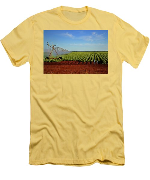 Men's T-Shirt (Slim Fit) featuring the photograph Watering The Garden 002 by George Bostian