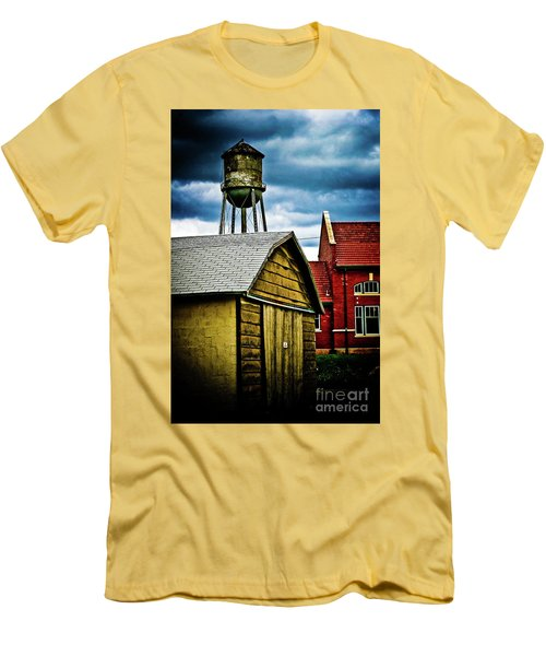 Waurika Old Buildings Men's T-Shirt (Slim Fit) by Toni Hopper