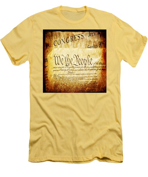 We The People Men's T-Shirt (Slim Fit) by Angelina Vick