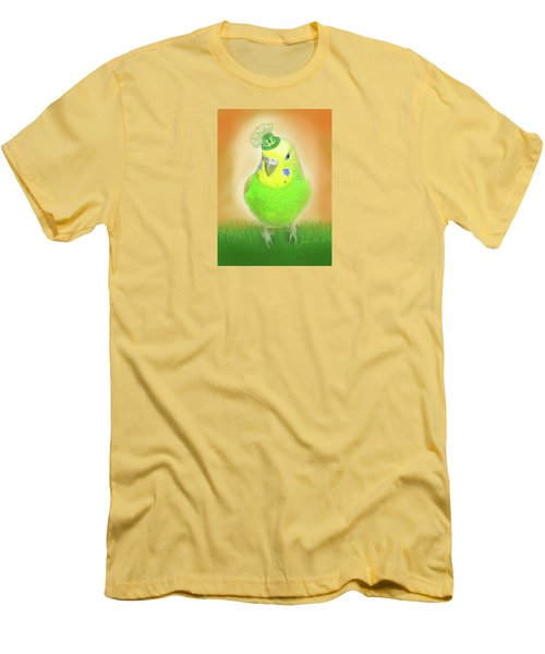 Men's T-Shirt (Slim Fit) featuring the digital art Wearin' Of The Green by Jean Pacheco Ravinski