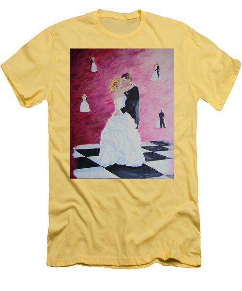 Wedding Dance Men's T-Shirt (Slim Fit) by Lisa Rose Musselwhite