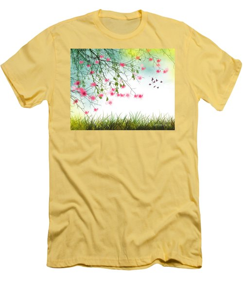 Welcome Spring 2016 Men's T-Shirt (Slim Fit) by Trilby Cole