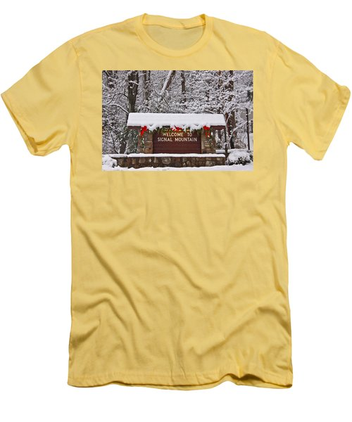 Welcome To Signal Mountain Men's T-Shirt (Athletic Fit)