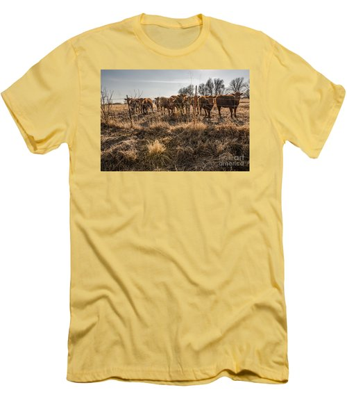 Men's T-Shirt (Athletic Fit) featuring the photograph Welcoming Committee by Sue Smith