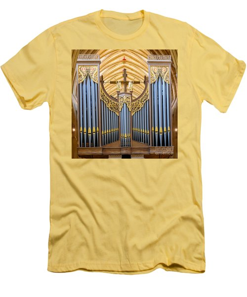 Wells Cathedral Organ Men's T-Shirt (Slim Fit) by Colin Rayner