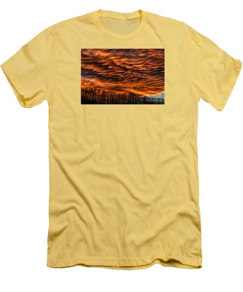 West Virginia Afterglow Men's T-Shirt (Slim Fit) by Thomas R Fletcher