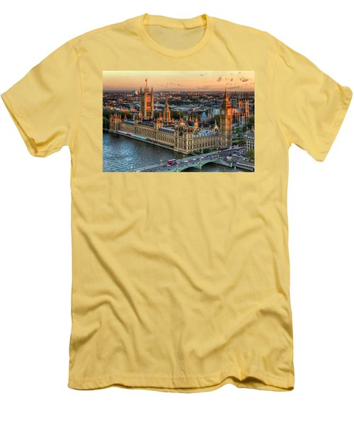 Westminster Palace Men's T-Shirt (Slim Fit) by Tim Stanley