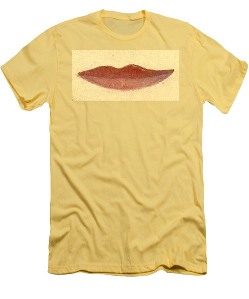 Men's T-Shirt (Slim Fit) featuring the painting What Is Beauty by Bill OConnor