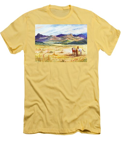 Men's T-Shirt (Slim Fit) featuring the painting What Lies Beyond by Marilyn Smith