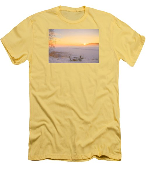Men's T-Shirt (Slim Fit) featuring the painting When Joy Fills The Heart by Rose-Maries Pictures
