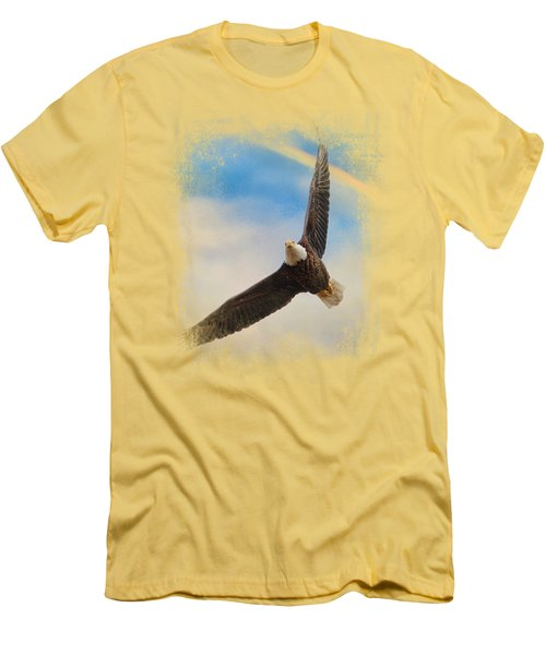 When My Wings Touch The Rainbow Men's T-Shirt (Slim Fit) by Jai Johnson