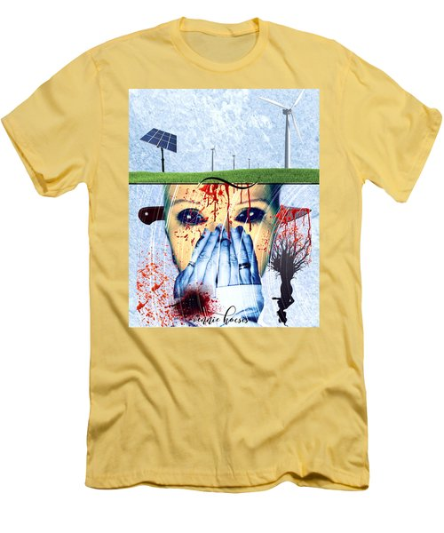 When They Take The Mind Men's T-Shirt (Slim Fit) by Vennie Kocsis