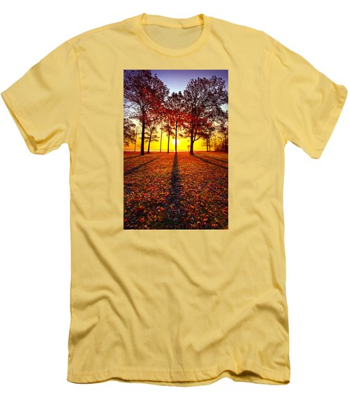 Where You Have Been Is Part Of Your Story Men's T-Shirt (Slim Fit) by Phil Koch